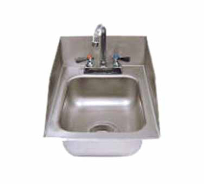 "Advance Tabco DI-1-5SP Drop-In Sink - (1) 10x14x5"" Bowl, 6"" Sidesplash, 20-ga 304 Stainless"