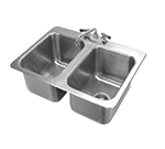 "Advance Tabco DI-2-10 Drop-In Filler Station - (2) 10x14x10"" Bowl, 18-ga 304 Stainless"