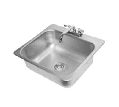 "Advance Tabco DI-1-208 Drop-In Sink - (1) 20x16x8"" Bowl, Deck Mount Swing Spout, 18-ga 304 Stainless"