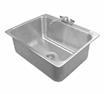 "Advance Tabco DI-1-2812 Drop-In Sink - (1) 28x20x12"" Bowl, Deck Mount Swing Spout, 16-ga 304 Stainless"