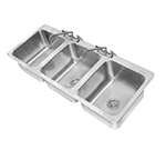 "Advance Tabco DI-3-1410 Drop-In Sink - (3) 14x16x10"" Bowl, Deck Mount Swing Spout, 18-ga 304 Stainless"
