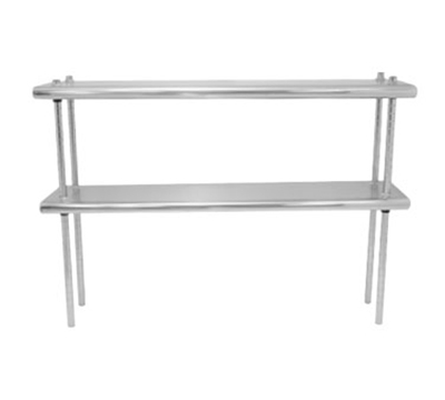 "Advance Tabco DS-10-120 Table Mount Shelf - Double Deck, 10x120"", 18-ga 430-Stainless"