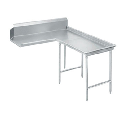 "Advance Tabco DTC-G30-144R 143"" Dishtable - Island Style, Stainless Legs, L-R, 14-ga 304-Stainless"