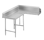 "Advance Tabco DTC-K30-48L 47"" Komer Clean Dishtable - L-Shape, Stainless Legs, R-L, 14-ga 304-Stainless"