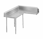 "Advance Tabco DTC-K60-96L 95"" Komer Clean Dishtable - L-Shape, Galvanized Legs, R-L, 14-ga 304-Galvanized"