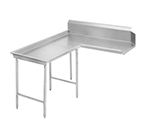 "Advance Tabco DTC-G30-108L 107"" Dishtable - Island Style, Stainless Legs, R-L, 14-ga 304-Stainless"