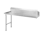 Advance Tabco DTC-S70-108L Clean Straight Design Dishtable - R-L Operation, Stainless Legs, 107x30x34