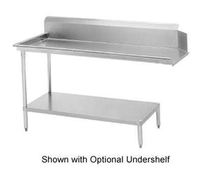 "Advance Tabco DTC-S60-144L Straight Dishtable - R-L Operation, Galvanized Legs, 143x30x34"", 16-ga 304-Stainless"