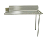"Advance Tabco DTC-S60-60R Straight Dishtable - L-R Operation, Galvanized Legs, 60x30x34"", 304-Stainless"