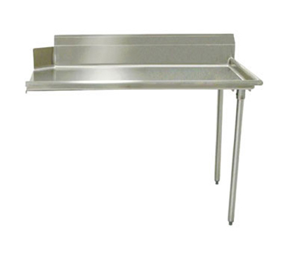 Advance Tabco DTC-S60-72R Clean Straight Design Dishtable - L-R Operation, Galvanized Legs, 72x30x34