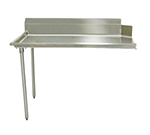 "Advance Tabco DTC-S60-48L Straight Dishtable - R-L Operation, Galvanized Legs, 48x30x34"", 304-Stainless"