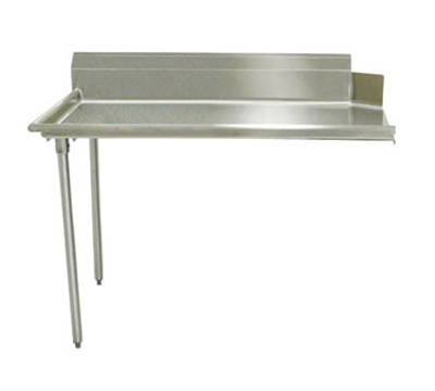 "Advance Tabco DTC-S60-36L Straight Dishtable - R-L Operation, Galvanized Legs, 36x30x34"", 304-Stainless"