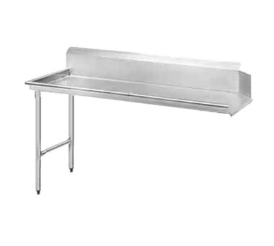 Advance Tabco DTC-S70-120L Clean Straight Design Dishtable - R-L Operation, Stainless Legs, 119x30x34