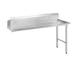 Advance Tabco DTC-S70-108R Clean Straight Design Dishtable - L-R Operation, Stainless Legs, 107x30x34