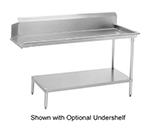 Advance Tabco DTC-S60-144R Straight Dishtable - L-R Operation, Galvanized Legs, 143x