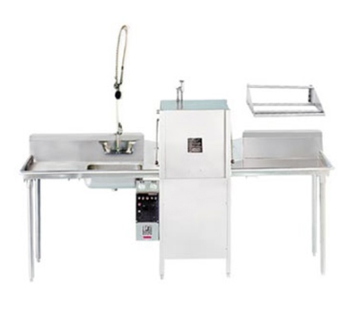 Advance Tabco DTP-10LR Straight Dishtable Package w/ L-R Operation & 42-in KD Tubular Shelf, 16-ga 304-Stainless