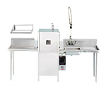 Advance Tabco DTP-10RL Straight Dishtable Package w/ R-L Operation & 42-in KD Tubular Shelf, 16-ga 304-Stainless
