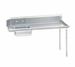 "Advance Tabco DTS-S60-144R 143"" R-L Straight Soil Table - 10.5&quot"