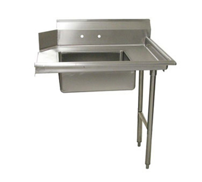 "Advance Tabco DTS-S60-60R 60"" R-L Straight Soil Dishtable - 10.5"" Backsplash, Galvanized Legs, 16-ga Stainless"