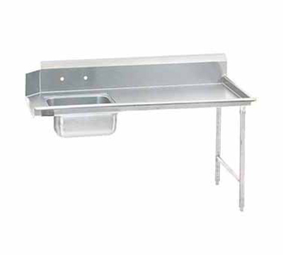 "Advance Tabco DTS-S30-108R 107"" R-L Straight Soil Table - 10.5"" Backsplash, Stainless Legs, 14-ga 304-Stainless"