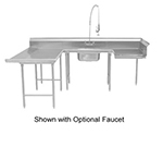 "Advance Tabco DTS-U30-120L Soiled L-R Dishtable - U Shape, Stainless Legs, 59x108x120"", 16-ga 304-Stainless"