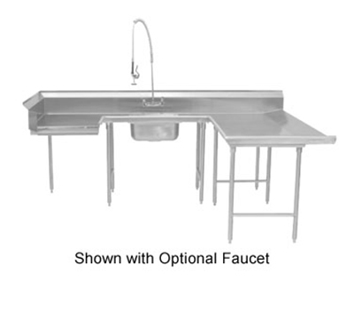 "Advance Tabco DTS-U30-108R Soiled R-L Dishtable - U Shape, Stainless Legs, 59x108x108"", 16-ga 304-Stainless"