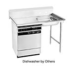 "Advance Tabco DTU-U60-72R R-L Undercounter Dishtable Assembly - 20x20x5"" Bowl, 72x30"" table, Stainless"