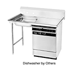 "Advance Tabco DTU-U60-72L L-R Undercounter Dishtable Assembly - 20x20x5"" Bowl, 72x30"" table, Stainless"