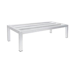 "Advance Tabco DUN-2448 Square Bar Dunnage Rack - 1-Tier, 1800-lb Capacity, 24x48x12"", Aluminum"