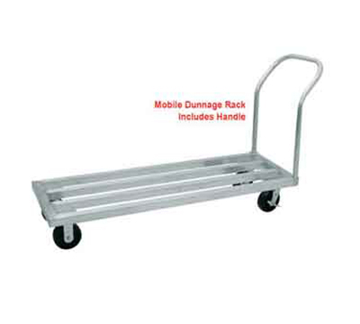 "Advance Tabco DUN-2036C Mobile Square Bar Dunnage Rack - 1800-lb Capacity, 1-Tier, 20x36x9.25"", Aluminum"