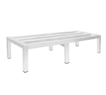 "Advance Tabco DUN-2460-8 Square Bar Dunnage Rack - 1-Tier, 2000-lb Capacity, 24x60x8"", Aluminum"