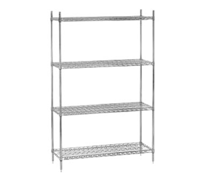 "Advance Tabco EC-1860 Shelving - 3-Trusses, 18x60"", Wire, Chrome"