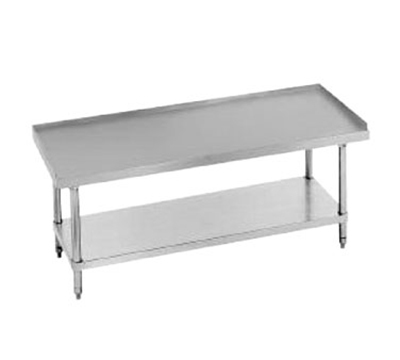 Advance Tabco EG-LG-242 Equipment Stand - Adjustable Undershelf, Galvanized Legs, 24 x 24 x 24""