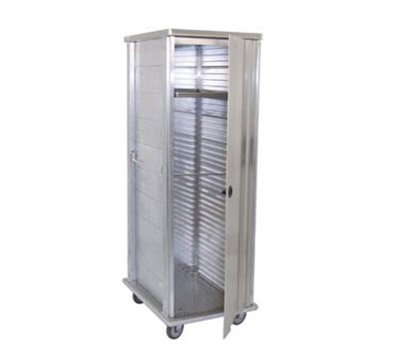 Advance Tabco EPC-40 Front Loading Enclosed Pan Cabinet - 37-Pan Capacity, Manual Latch, 14-ga Aluminum