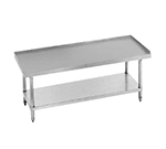 "Advance Tabco EG-307 Equipment Stand - Adjustable Undershelf, Galvanized Legs, 84x30x24"", Stainless"
