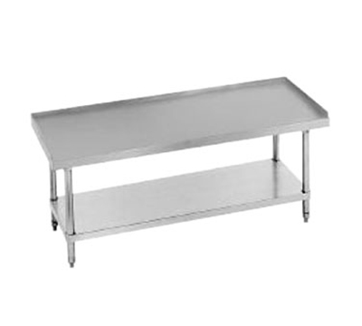 "Advance Tabco EG-246 Equipment Stand - Adjustable Undershelf, Galvanized Legs, 72x24x24"", Stainless"