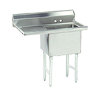 "Advance Tabco FC-1-1818-18L Fabricated Sink - 18x18x14"" Bowl, 18"" Left Drainboard, 16-ga 304-Stainless"