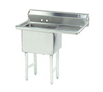 "Advance Tabco FC-1-1824-18R Fabricated Sink - 18x24x14"" B"