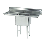 "Advance Tabco FS-1-3024-24RL Fabricated Sink - 30x24x14"" Bowl, 24"" R-L Drainboard, 14-ga 304-Stainless"