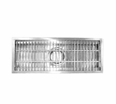 Advance Tabco FFTG-1260 Floor Trough - Removable Strainer Basket, Fiberglass Grating, 12x60x4
