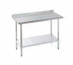 "Advance Tabco SFLAG-308 96"" 16-ga Work Table w/ Undershelf & 430-Series Stainless Top, 1.5"" Backsplash"