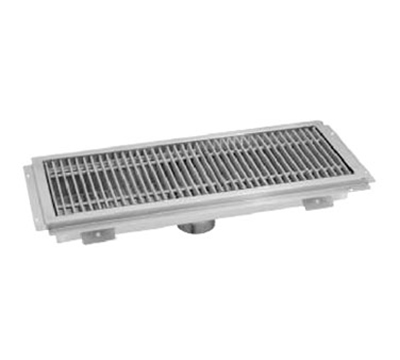 "Advance Tabco FRG-36 Floor Water Receptacle - Subway Grating, 12x36x2"", 14-ga 304-Stainless"
