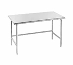 "Advance Tabco TMS-2411 132"" Work Table - Bullet Feet, 24"" W, 16-ga 304-Stainless"