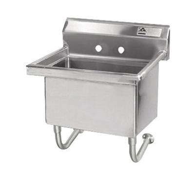 "Advance Tabco FS-WM-2721 Wall Mount Service Sink - 27x21.5x12"" Bowl, 8.5"" Backsplash, 14-ga Stainless"