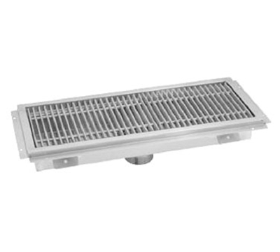 "Advance Tabco FTG-1296 Floor Trough - Removable Strainer Basket, 12x96x4"", 14-ga 304-Stainless"