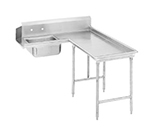 "Advance Tabco DTS-G30-108R 107"" R-L Island Soil Dishtable - 10.5"" Backsplash, Stainless Legs, 14-ga Stainless"