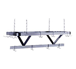 "Advance Tabco GC-48 48"" Pot Rack - Triple Bar Design, Ceiling Chain Hangers, Galvanized Steel"