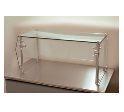 Advance Tabco GSG-18-72 Food Shield - Heat Tempered Glass Top Shelf, Front, Side Panels, 18x72x18