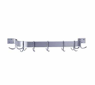 "Advance Tabco GW1-48 48"" Wall Mount Pot Rack, Single Bar - 6 Double Hooks"