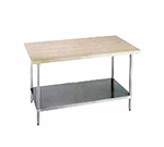 "Advance Tabco H2S-365 60"" Work Table - 1-3/4"" Wood Top, Stainless Sh"